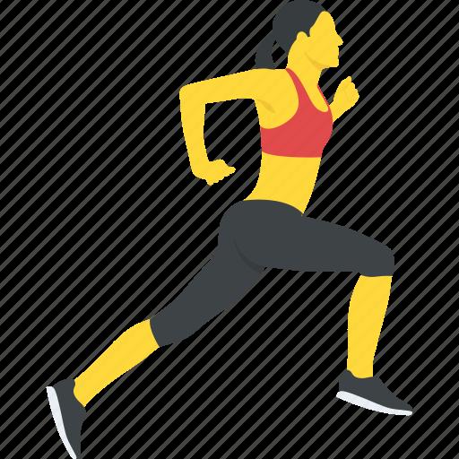 activity, female runner running, running, running woman, woman jogging icon