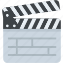 cinema industry, cinematography, clapperboard, filmmaking, movie clapper icon