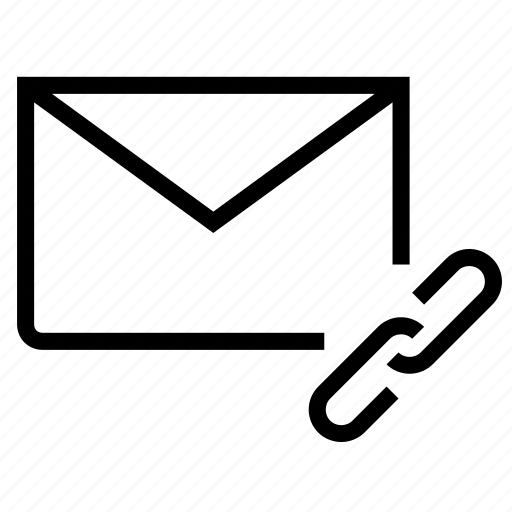 chain, email, envelope, link, mail icon