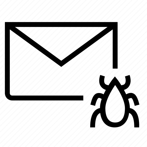 bug, email, envelope, mail, virus, worm icon