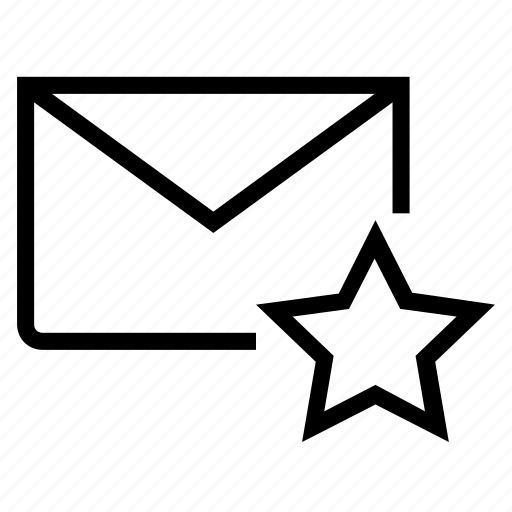 email, envelope, favorite, like, mail, star icon