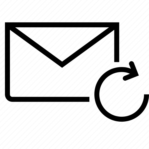 check, email, envelope, mail, refresh icon