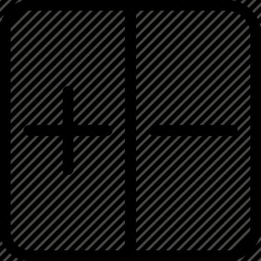 add, plus minus, remove icon