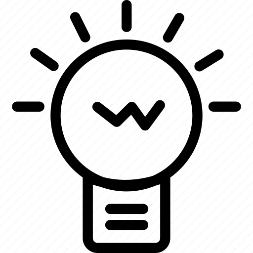 bulb, business, creative, idea, light, working icon