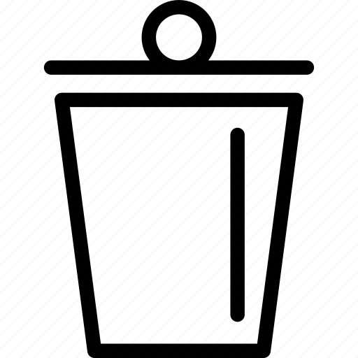 bin, cancel, empty, garbage, recycle, remove, trash icon