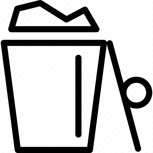 bin, delete, dustbin, full, garbage, recycle, trash icon