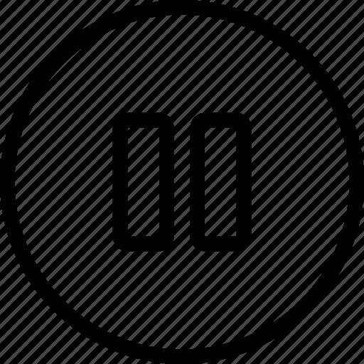 audio, media, multimedia, music, pause, sound, stop icon