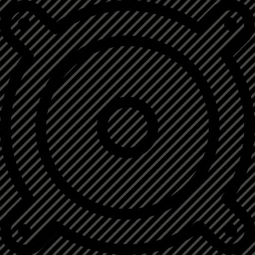 audio, media, multimedia, sound, speaker, volume icon