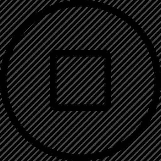 audio, media, movie, multimedia, stop, video icon
