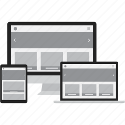adaptive, computer, laptop, responsive, tablet icon