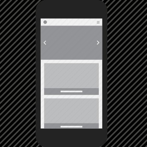 adaptive, mobile, phone, responsive icon