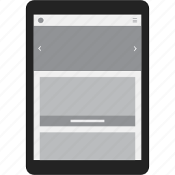 adaptive, responsive, screen, tablet icon