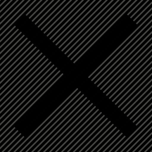 cancel, close, delete, exit, remove, wrong icon