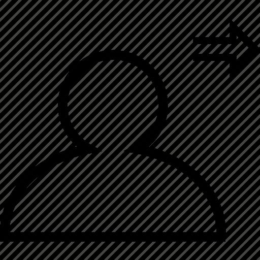 arrow, friendlist, friends, friendship, next friend icon