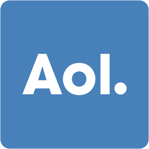 address book, aol, contacts, email, square icon