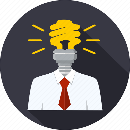 bulb, clever, creative, ideea, intelligence, person, solution icon