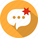 bubble, chat, message, mobile, speech, talk, web icon