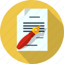 document, files, format, letter, message, pen, write icon