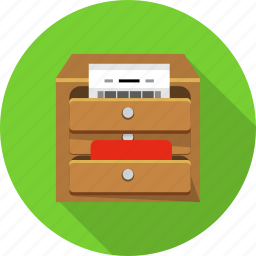 business, drawer, ecommerce, finance, office, paper, statistics icon