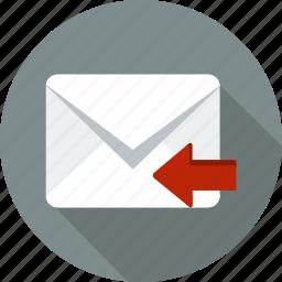 address, communication, envelope, letter, mail, message, web icon