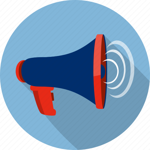 amplifier, broadcast, communication, megaphone, speaker, talk, warning icon
