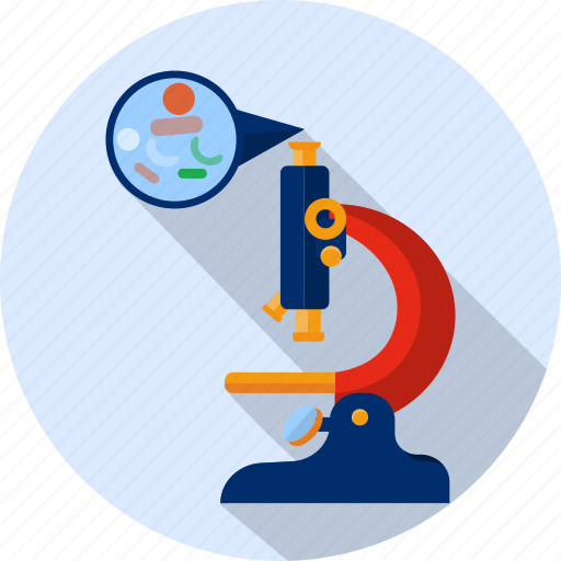 bacteria, experiment, laboratory, microbes, microbiology, microscope, zoom icon