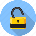 key, lock, open, padlock, password, protection, safe icon