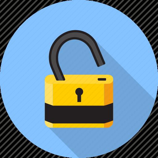 key, lock, open, padlock, password, protection, safe icon