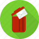 delete, envelope, garbage, letter, recycle bin, remove, trash icon