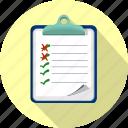 checklist, clipboard, fille, office, order, questionnaire, survey