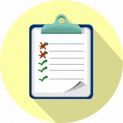 checklist, clipboard, fille, office, order, questionnaire, survey icon
