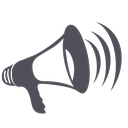 amplifier, blogger, loud, megaphone, sound, speaker, strike, volume icon