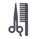 salon, cut, beauty, hairdresser, style, brush, scissor icon
