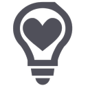 bulb, heart, help, idea, light, love, ngo icon