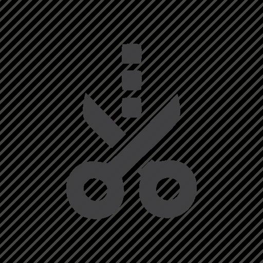 cut, scissors icon