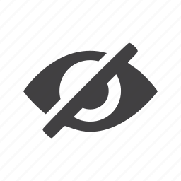 eye, hide, invisible icon
