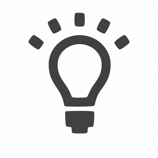 bulb, idea, lightbulb, luminosity icon