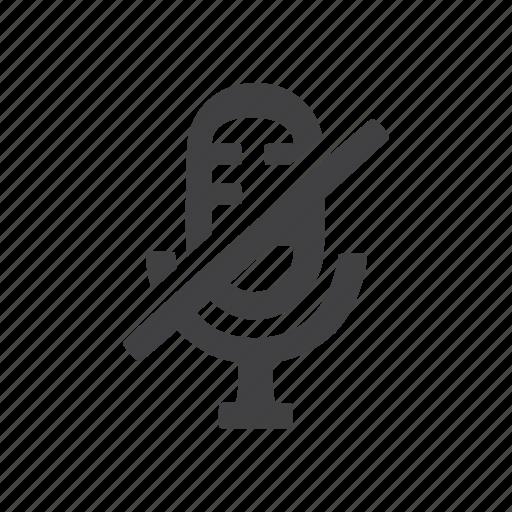 audio, mic, microphone, off icon