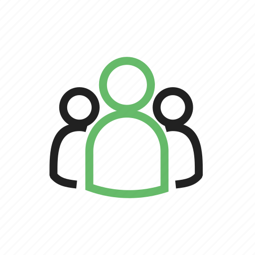 connected, group, of, people, subscribers icon