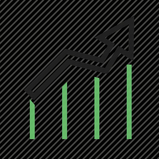 graph, increase, progress, ratio, stats icon