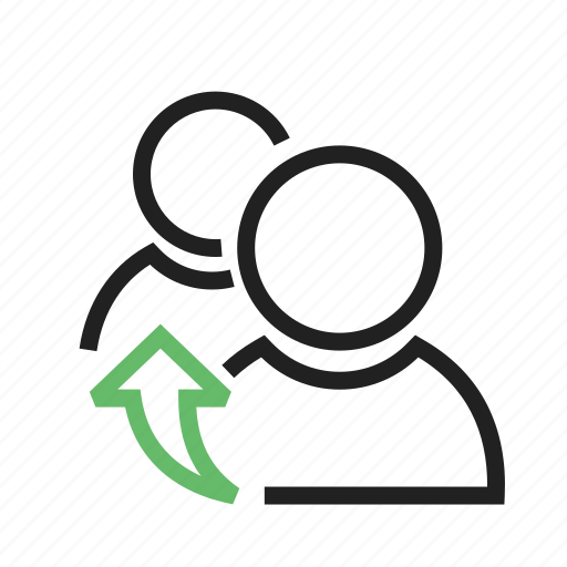connections, forwarding, referrals, resources icon