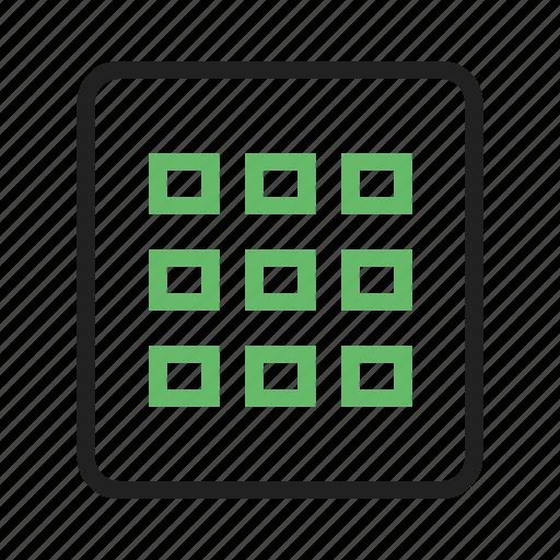 columns, grid, rows, view icon