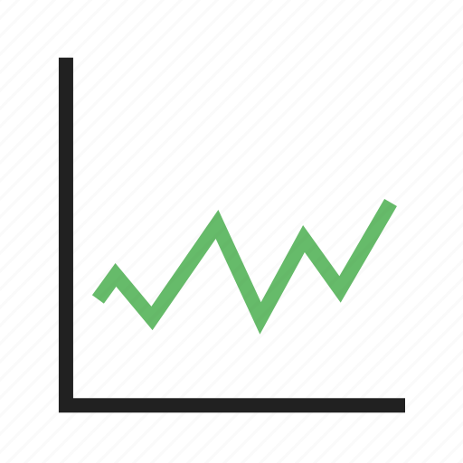 charts, decrease, graph, increase, progress icon