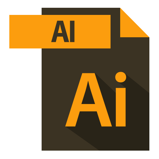 adobe, ai extention, extention, file format icon