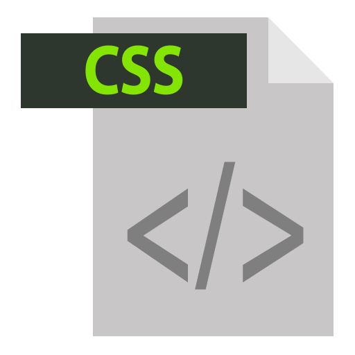 adobe, css, css extention, extention, file format icon