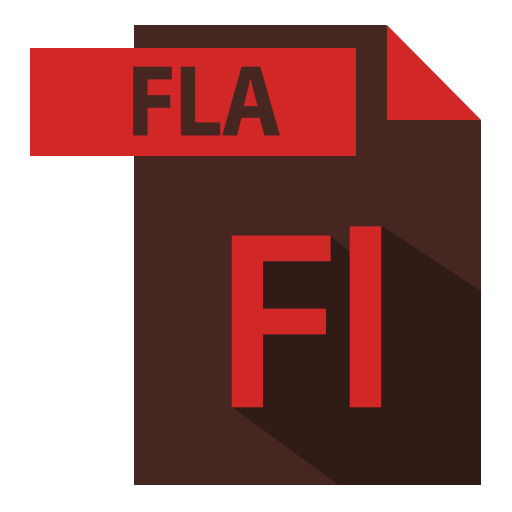 adobe, extention, file format, fla extention icon