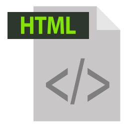 adobe, extention, file format, html, html extention icon