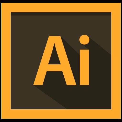 adobe, design, illustrator icon