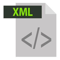adobe, extention, file format, xml, xml extention icon
