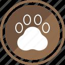 animal, dog, foot, pet icon